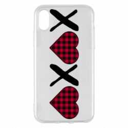 Чехол для iPhone X/Xs XOXO red