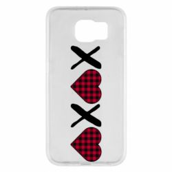 Чехол для Samsung S6 XOXO red