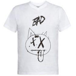 Мужская футболка  с V-образным вырезом Xxtenations bad smile