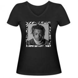 Жіноча футболка з V-подібним вирізом XXXTentacion 1