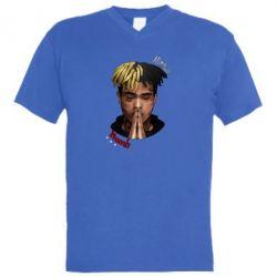 Купить Masha, Мужская футболка с V-образным вырезом XXXTentacion Alone, FatLine