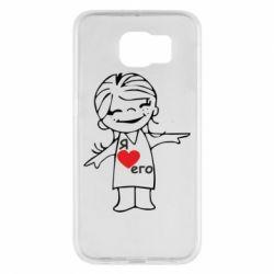 Чехол для Samsung S6 Я люблю его - FatLine