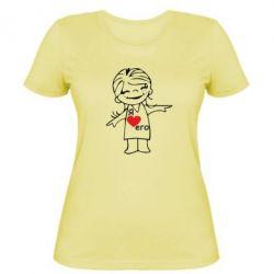 Жіноча футболка Я люблю його - FatLine