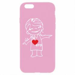 Чехол для iPhone 6 Plus/6S Plus Я люблю его - FatLine