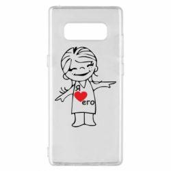 Чехол для Samsung Note 8 Я люблю его - FatLine