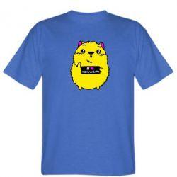 Мужская футболка Я люблю кушать - FatLine