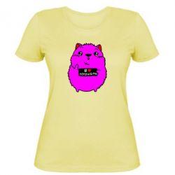 Женская футболка Я люблю кушать - FatLine