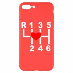 Чехол для iPhone 7 Plus Я люблю механическую коробку передач!