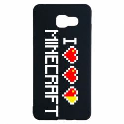 Чехол для Samsung A5 2016 Я люблю Minecraft