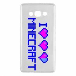 Чехол для Samsung A7 2015 Я люблю Minecraft
