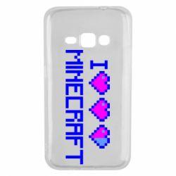 Чехол для Samsung J1 2016 Я люблю Minecraft