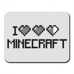 Коврик для мыши Я люблю Minecraft - FatLine