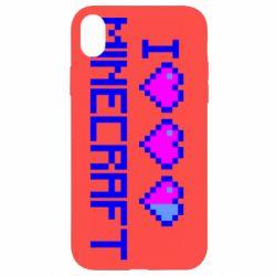 Чехол для iPhone XR Я люблю Minecraft