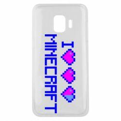 Чехол для Samsung J2 Core Я люблю Minecraft