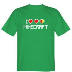 Мужская футболка Я люблю Minecraft - FatLine
