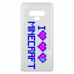Чехол для Samsung Note 9 Я люблю Minecraft