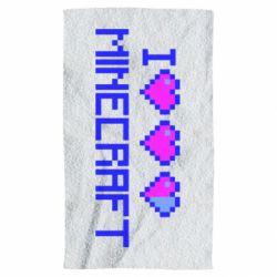Полотенце Я люблю Minecraft