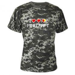 Камуфляжная футболка Я люблю Minecraft - FatLine
