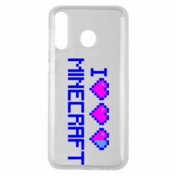 Чехол для Samsung M30 Я люблю Minecraft