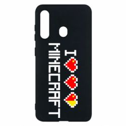 Чехол для Samsung M40 Я люблю Minecraft
