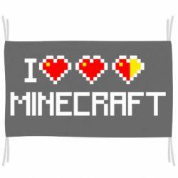 Флаг Я люблю Minecraft
