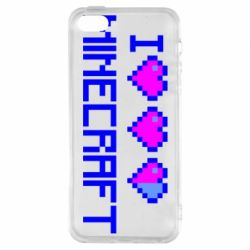Чехол для iPhone5/5S/SE Я люблю Minecraft