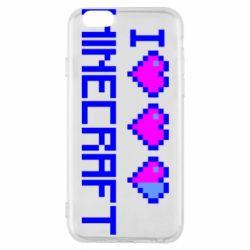 Чехол для iPhone 6/6S Я люблю Minecraft