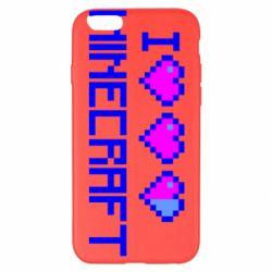 Чехол для iPhone 6 Plus/6S Plus Я люблю Minecraft