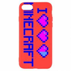 Чехол для iPhone 7 Я люблю Minecraft
