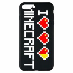 Чехол для iPhone 7 Plus Я люблю Minecraft