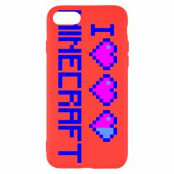 Чехол для iPhone 8 Я люблю Minecraft