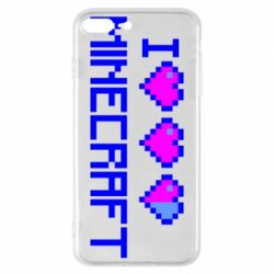 Чехол для iPhone 8 Plus Я люблю Minecraft