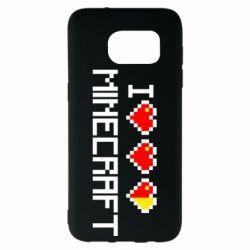 Чехол для Samsung S7 EDGE Я люблю Minecraft