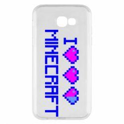 Чехол для Samsung A7 2017 Я люблю Minecraft
