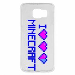 Чехол для Samsung S6 Я люблю Minecraft
