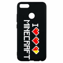 Чехол для Xiaomi Mi A1 Я люблю Minecraft