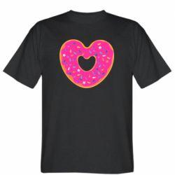 Мужская футболка Я люблю пончик