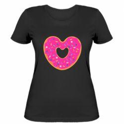 Женская футболка Я люблю пончик