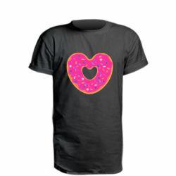 Удлиненная футболка Я люблю пончик
