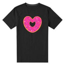 Мужская стрейчевая футболка Я люблю пончик