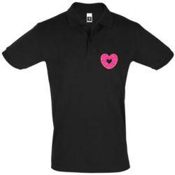 Мужская футболка поло Я люблю пончик