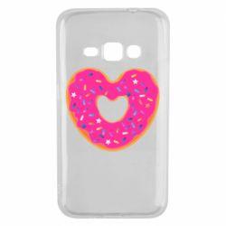 Чехол для Samsung J1 2016 Я люблю пончик