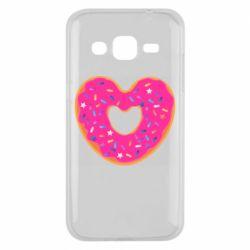 Чехол для Samsung J2 2015 Я люблю пончик