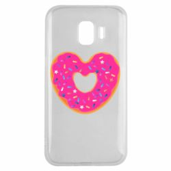 Чехол для Samsung J2 2018 Я люблю пончик