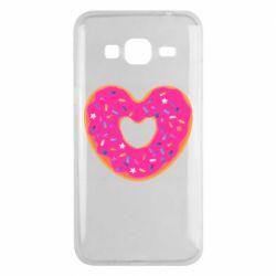 Чехол для Samsung J3 2016 Я люблю пончик