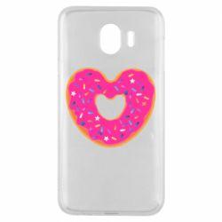 Чехол для Samsung J4 Я люблю пончик