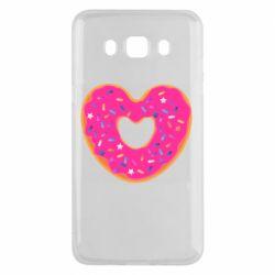 Чехол для Samsung J5 2016 Я люблю пончик