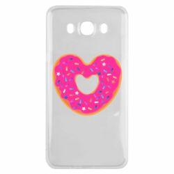 Чехол для Samsung J7 2016 Я люблю пончик