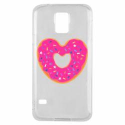 Чехол для Samsung S5 Я люблю пончик