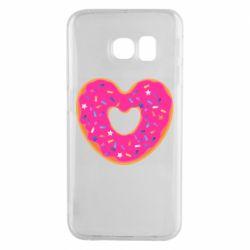 Чехол для Samsung S6 EDGE Я люблю пончик
